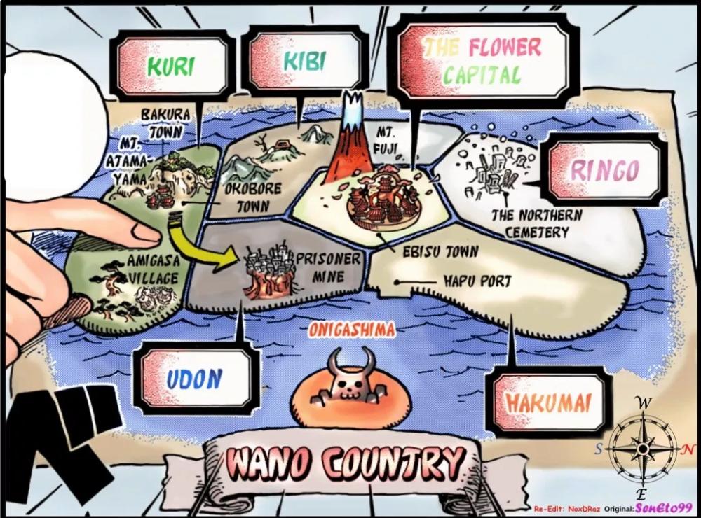 Map Of Wano Kuni Dawn Of One Piece Carte Heros