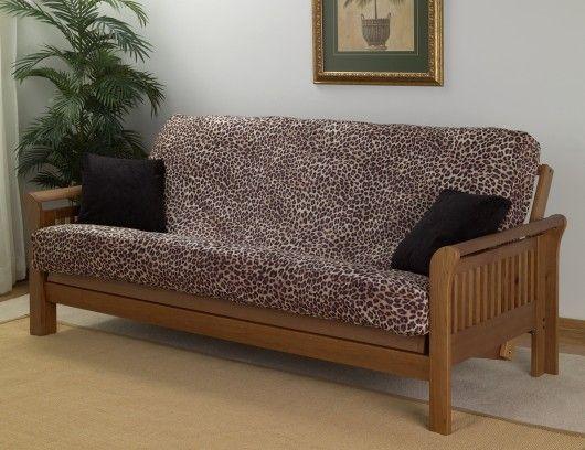 Cheetah Leopard Print Full Size Futon