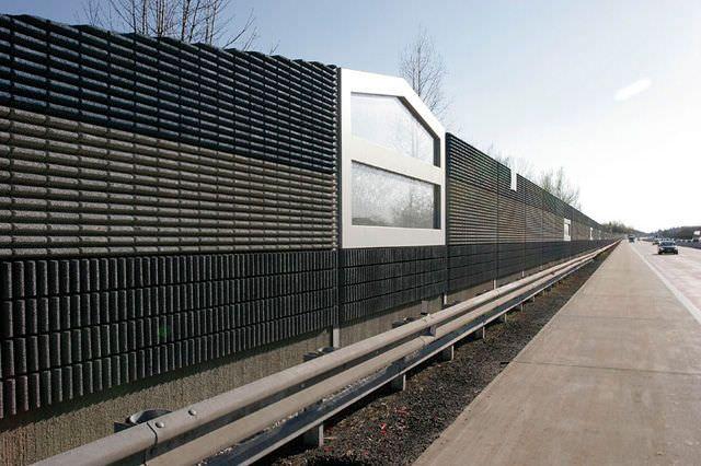 Mur anti-bruit préfabriqué   en béton armé - PAVERSOUND®  INSEERTED
