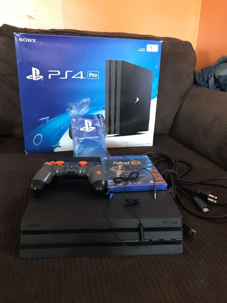 PlayStation 4 PS4 Pro 1TB Jet Black Console Plus FALLOUT 76