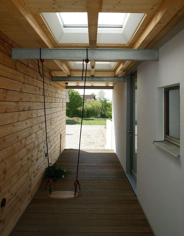Durchgang zwischen haus und garage zum eingang carport for Haus mit garage