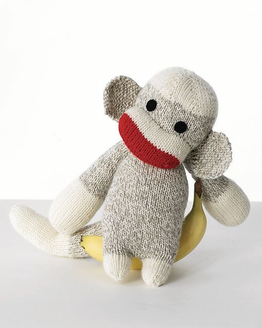 Free Knitting Pattern For Baby Sock Monkey And More Sock Monkey