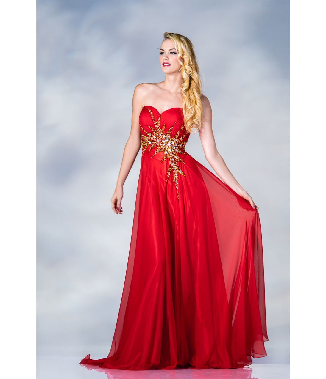 red and gold ball gown dresses wwwimgkidcom the