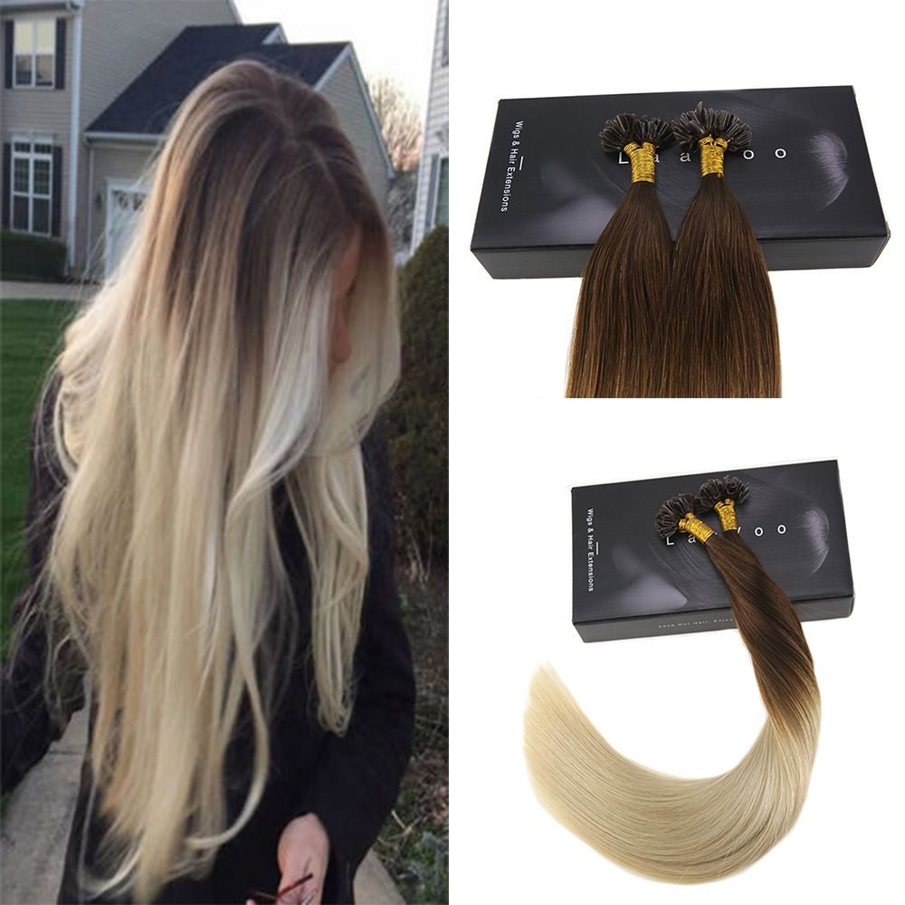 U Tip Ombre Pre Bonded Keratin Fusion Remy Human Hair Extensions Brown  Fading To Blonde  4 613  womensfashion  womenswear  strongwomen   womeninbusiness ... ba7b41a741