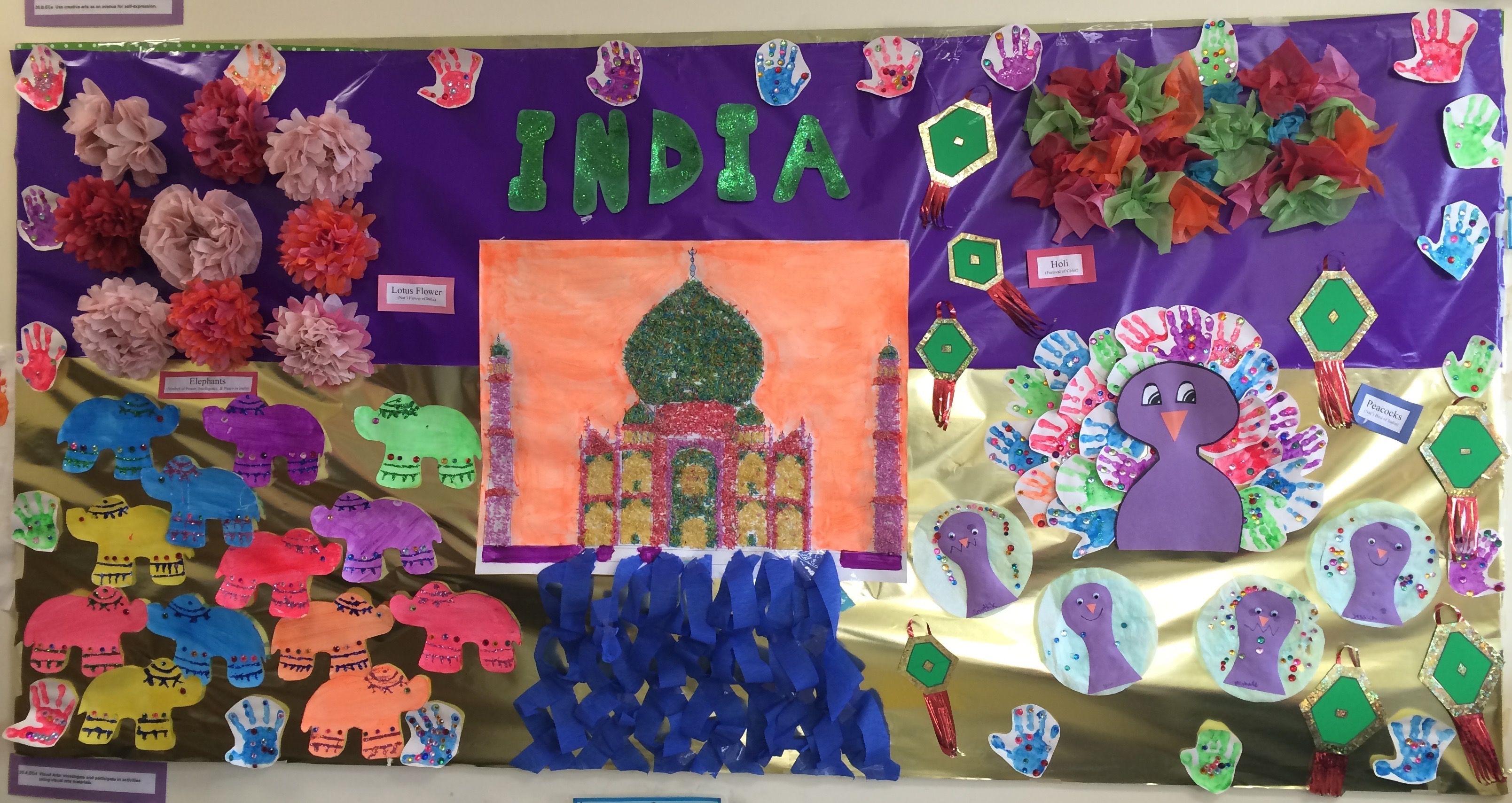 India Culture Preschool Bulletin Board