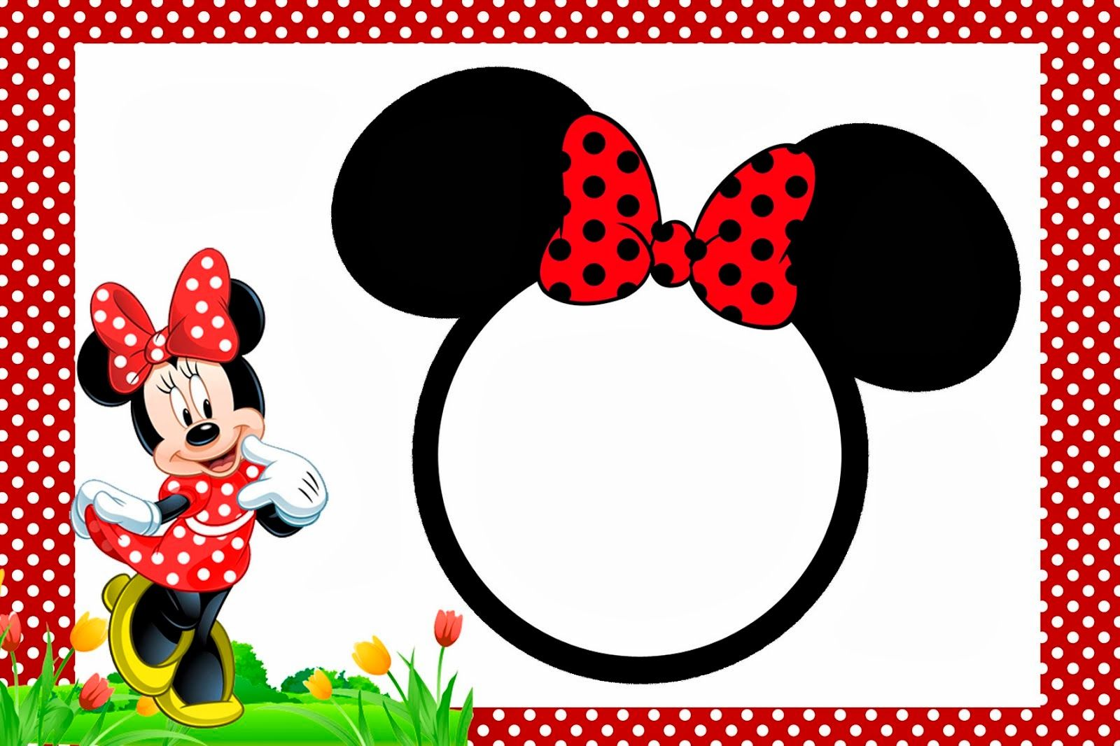 Minnie In Red Free Printables And Party Invitations Right