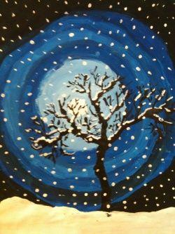 L 39 hiver ecole pinterest hiver art plastique et arts for Art plastique peinture
