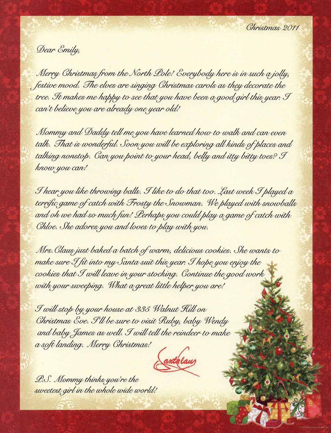 Personalized Letter From Santa Claus By Merrymailbox On Etsy