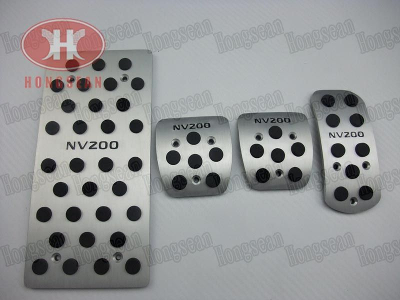 High quality aluminium alloy NV200 logo foot rest pads gas