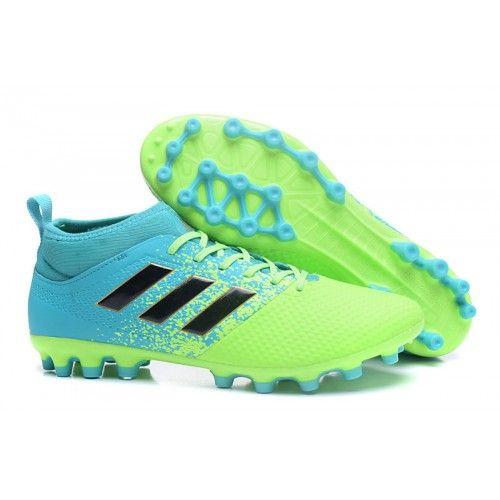 separation shoes 06fd6 98dee Adidas ACE 17-3 PRIMEMESH AG Botas de futbol Verde Azul Negro