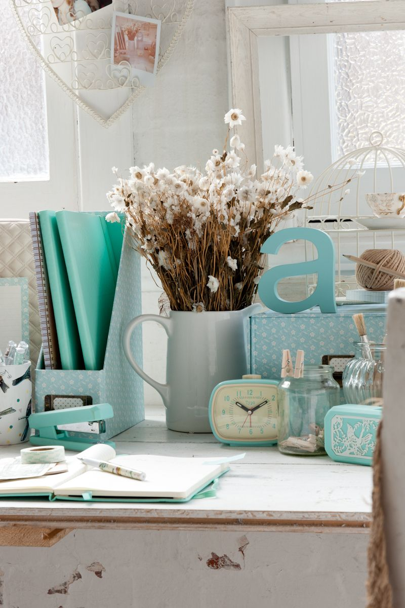 Tiffany Blue Living Room Decor Youll Have The Best Dressed Desk With These Accessories Kind Of