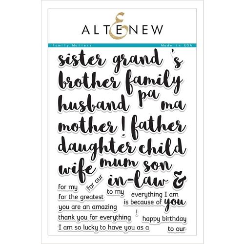 Altenew FAMILY MATTERS Clear Stamp Set