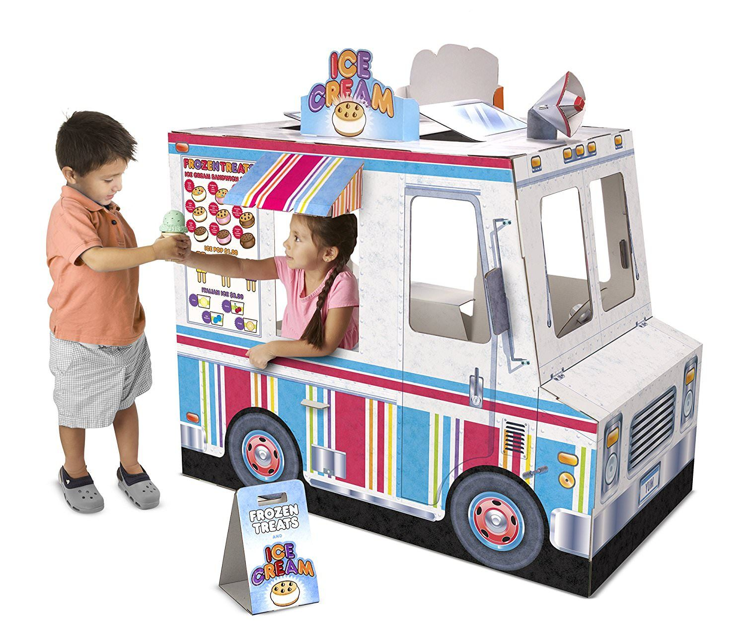 2020 Top Pretend Play Toys And Gifts Play Houses Indoor Playhouse Ice Cream Truck