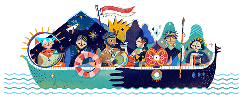 indonesia independence day 2017 date august 17 2017 today we celebrate indonesias independence day known locally as google doodles ideias do doodle doodles pinterest