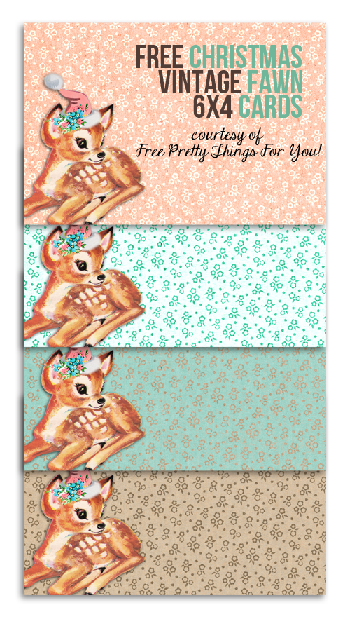 Printable Labels: Free Christmas Vintage Fawn 6×4 Labels! @Penny Douglas Pretty Things For You