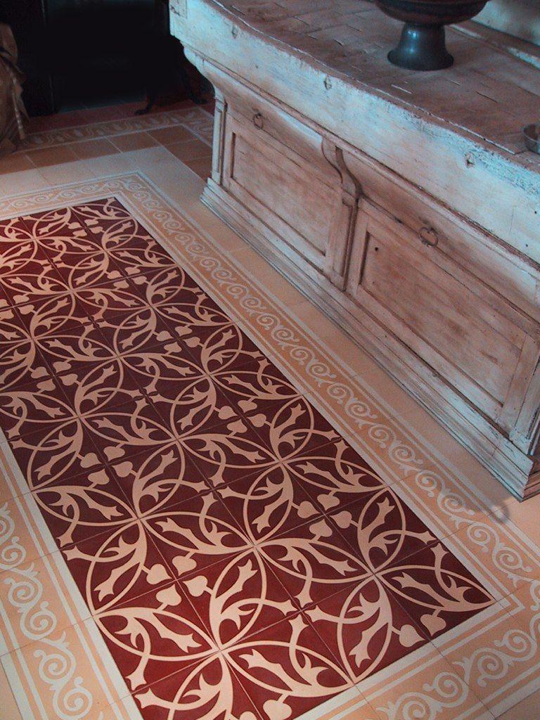 Red Kitchen Floor Tiles Castelo Handmade Tiles Ar Hall Kitchen Floor Tiles 20x20cm