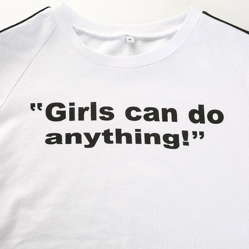 Girls Can Do Anything Crop Tee Crop Tee T Shirts For Women Streetwear Tshirt
