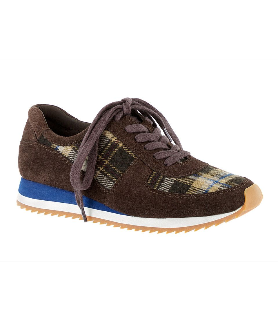 Take a look at this Dark Brown Plaid Flannel Emile Sneaker today!