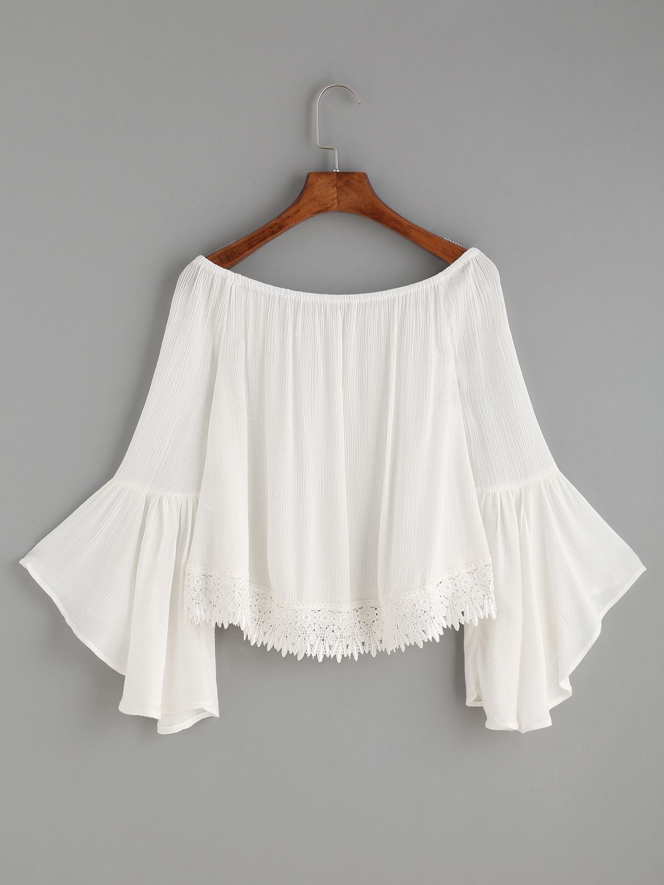 a038a2ade8ad48 RBLO160725005_2 Cold Shoulder Blouse, White Off Shoulder Top, Shoulder Tops,  Lace Trim,