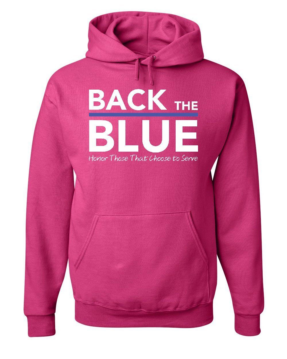 Back the Blue Sweatshirt Thin Blue Line Honor Police Heroic Service Sweater
