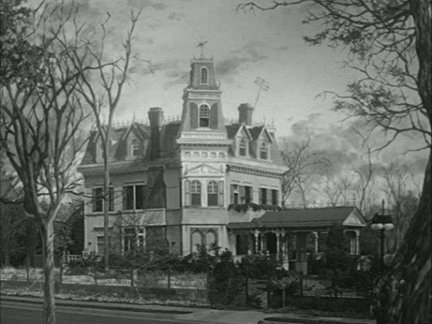Starting with the second episode, a painting based on the original house was used for the show.
