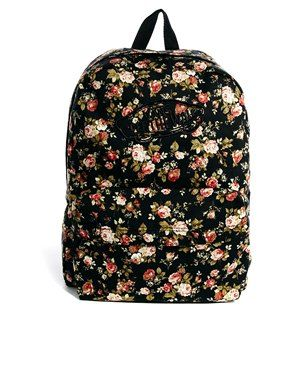 Vans Realm Floral Backpack | School Backpack in 2019 | Vans backpack ...