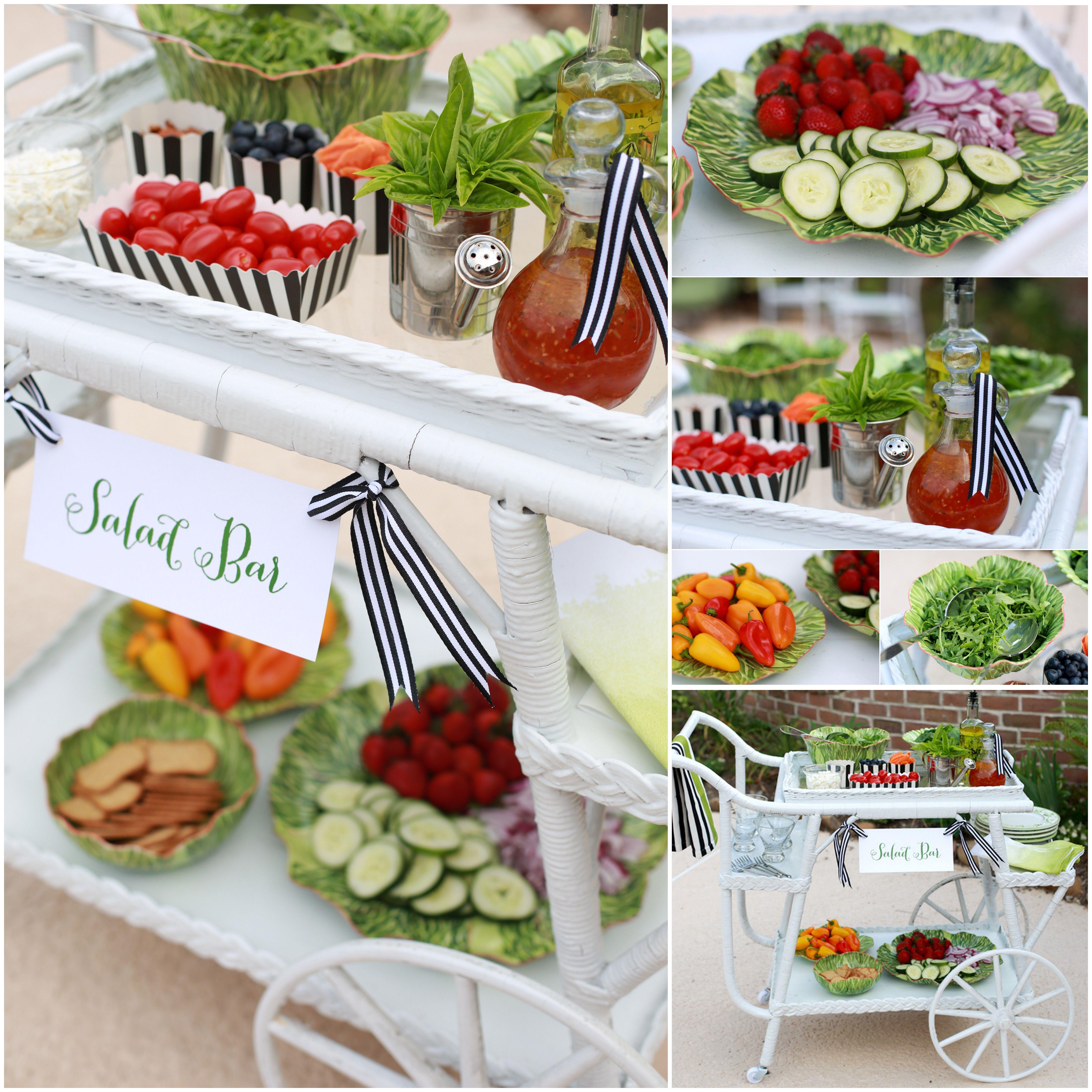 Build a Summer Salad Bar! Idea to SAVE! | Salad bar party ...