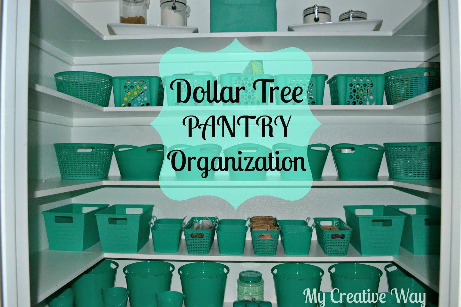 Dollar Tree Pantry Organization #largepantryideas