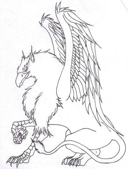 Griffon outLine Chimera myth