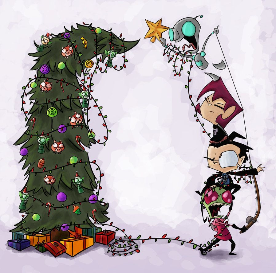 Decorating the Tree by Jayfeather-wings | Zim | Pinterest | Invader zim