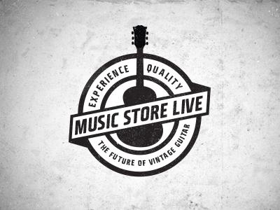 Music Store Live Logo 2 Music Logo Design Vintage Logo Design Vintage Logo