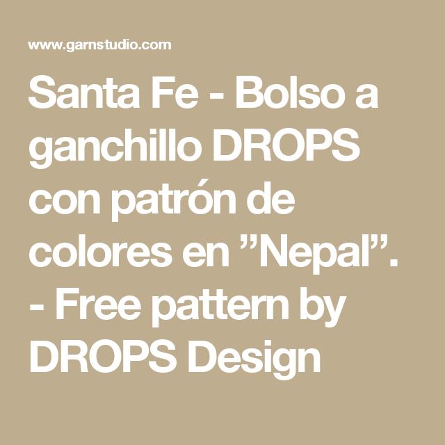 "Santa Fe - Bolso a ganchillo DROPS con patrón de colores en ""Nepal ..."