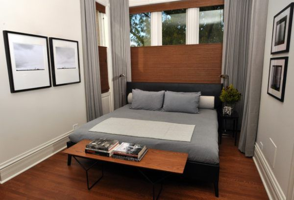 Small But Inviting; Like The Repurposed Table At The Foot Of The Bed Small  Bedroom