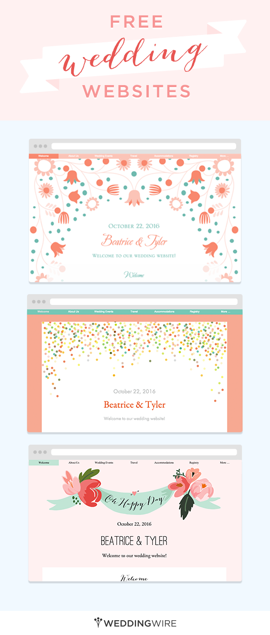 create a free wedding website to share your info with family and