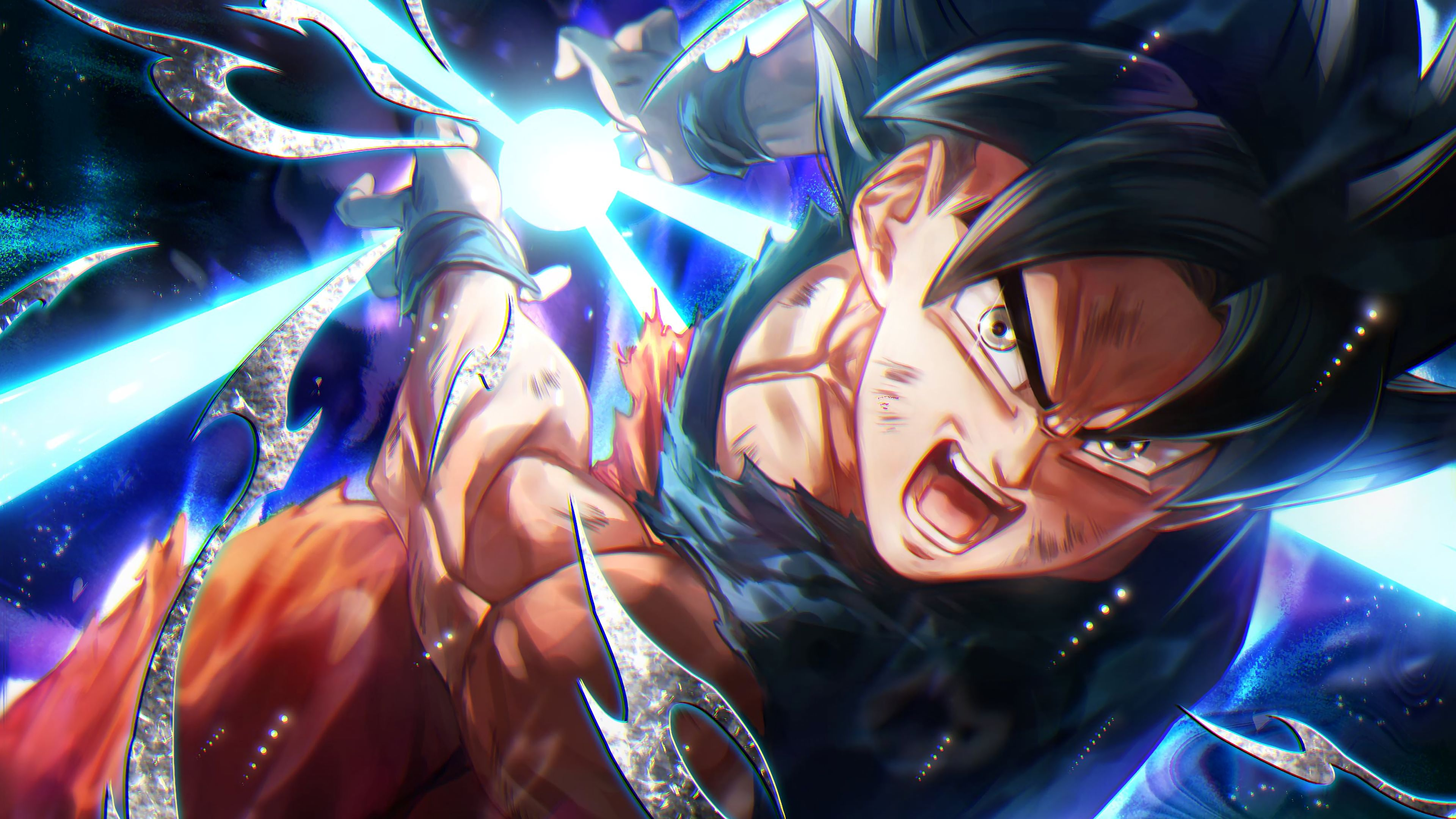Goku Kamehameha Ultra Instinct Dragon Ball Super Anime 3840x2160 Wallpaper Anime Dragon Ball Dragon Ball Wallpapers Dragon Ball Goku
