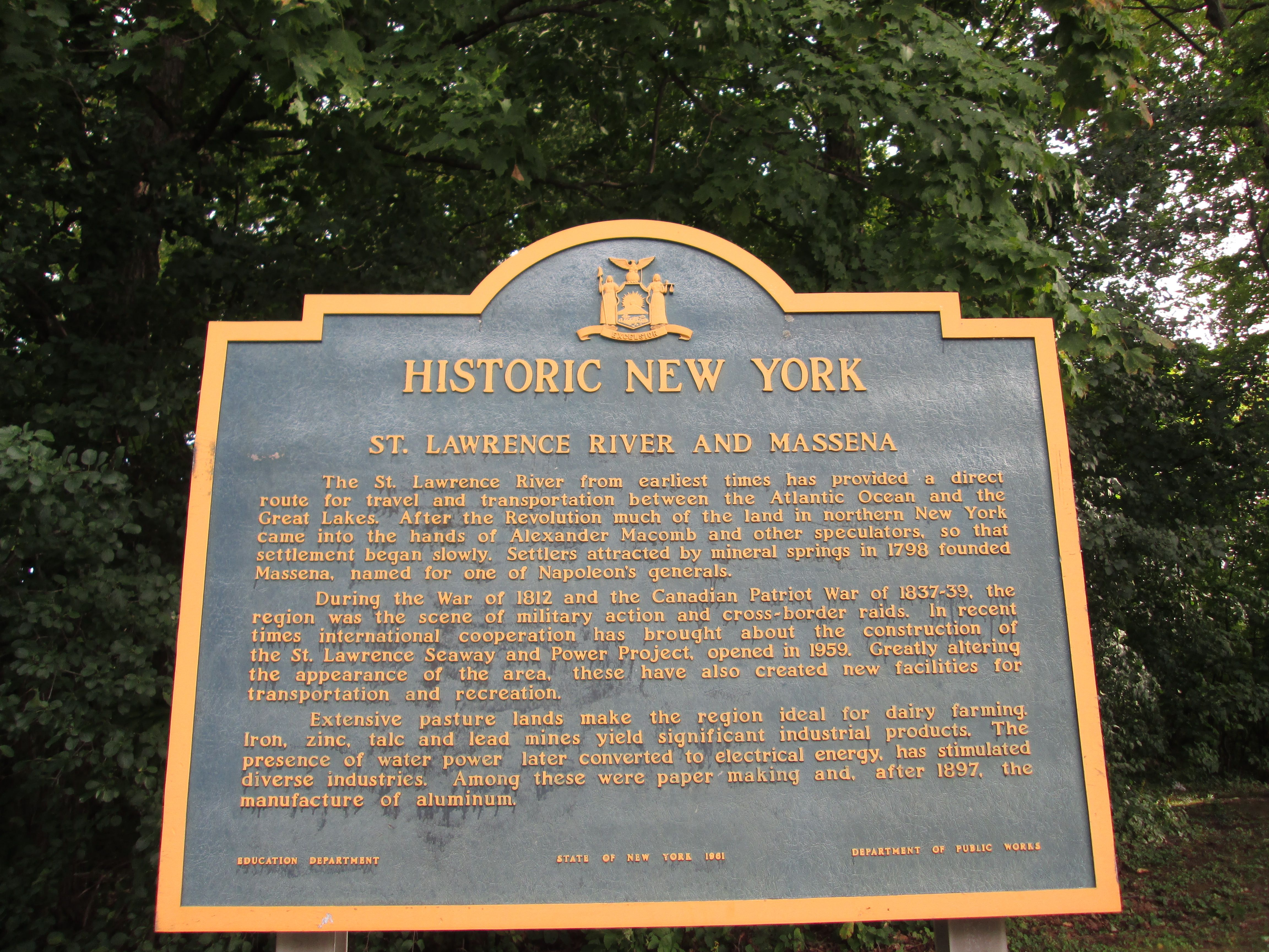 New York State Historic Marker With Images