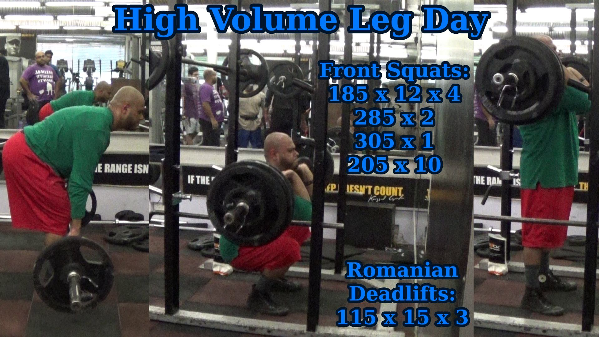 Leg day from today was all about some high rep front