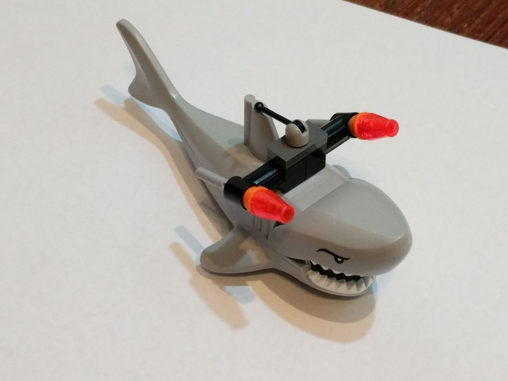 AGENTS Water Minifig Animal Large Shark LEGO 8633 Light Gray