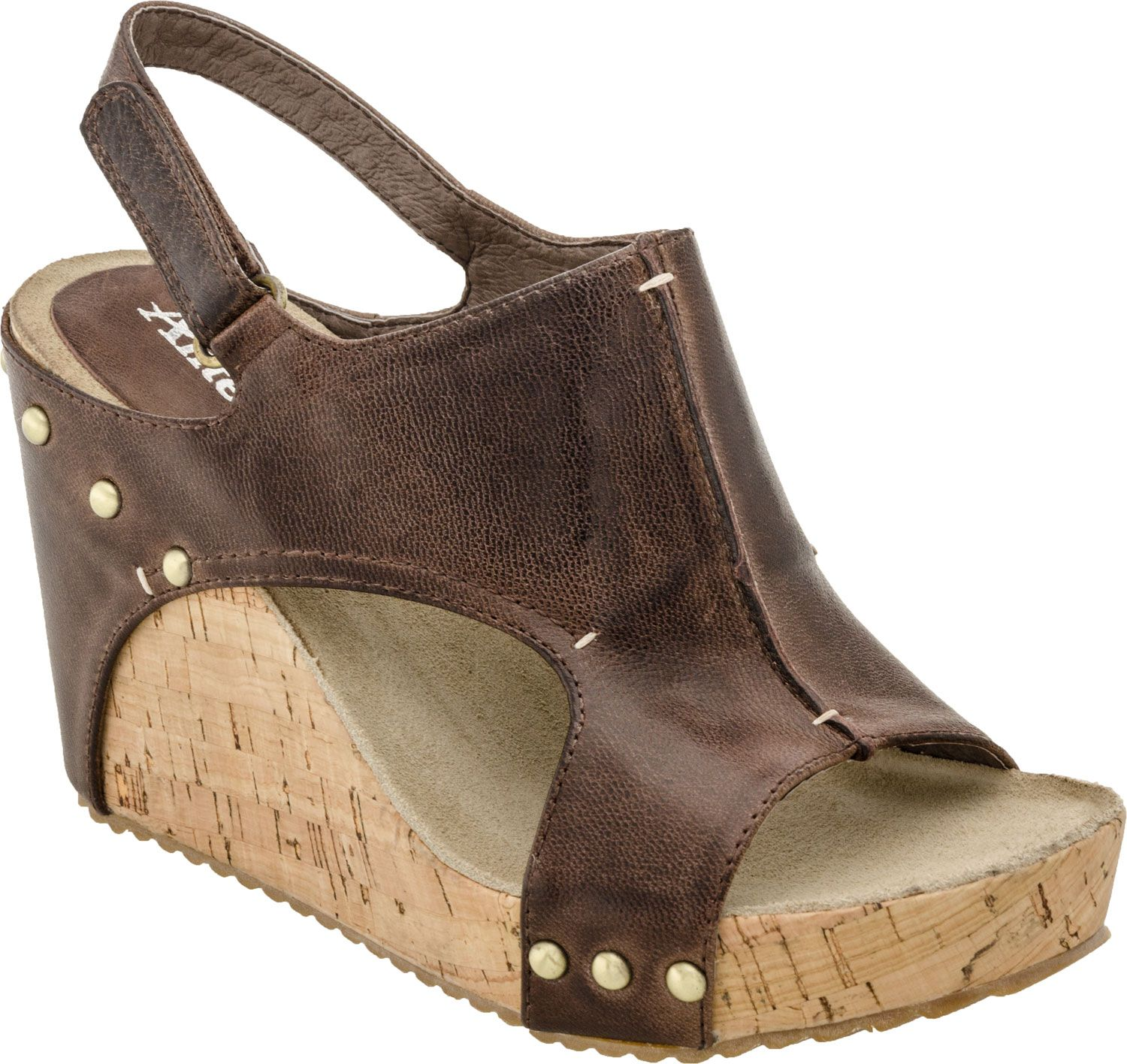 263ec73a3cf3 Antelope 724 Studded Cork Wedge women s sandals (Coffee).. My Next purchase  from The Willow Tree!