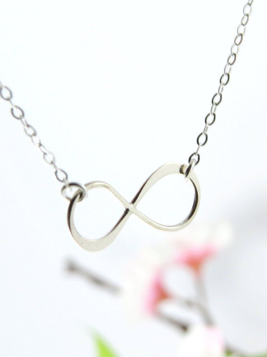 Silver Infinity Symbol Necklace Best Friend Infinity Silver