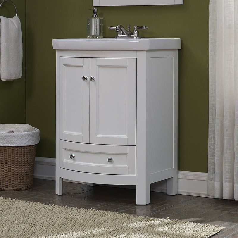 """Thibeault 24"""" Single Bathroom Vanity Set Small bathroom"""