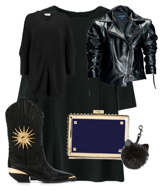 """""""sexy little black"""" by andrea-schweizer on Polyvore featuring Mode, American Vintage, Valentino, FAUSTO PUGLISI und Leka"""