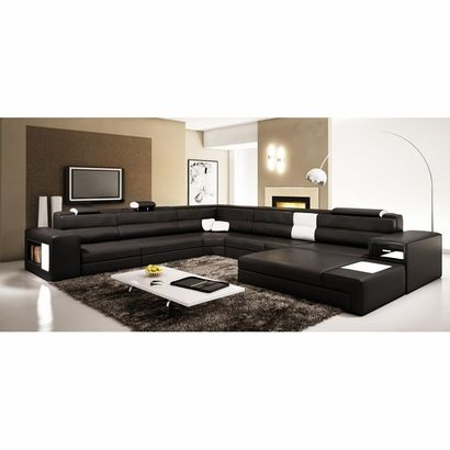 Divani Casa Polaris - Contemporary Bonded Leather Sectional Sofa - divanidivani luxurioses sofa design
