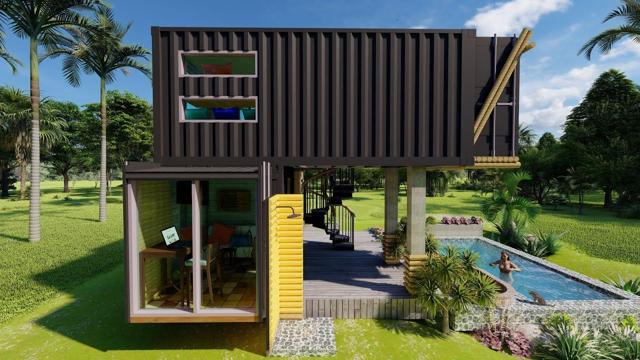 Pin By Ni Nitiwan On Baanban Idea Bamboo Design Tiny House House