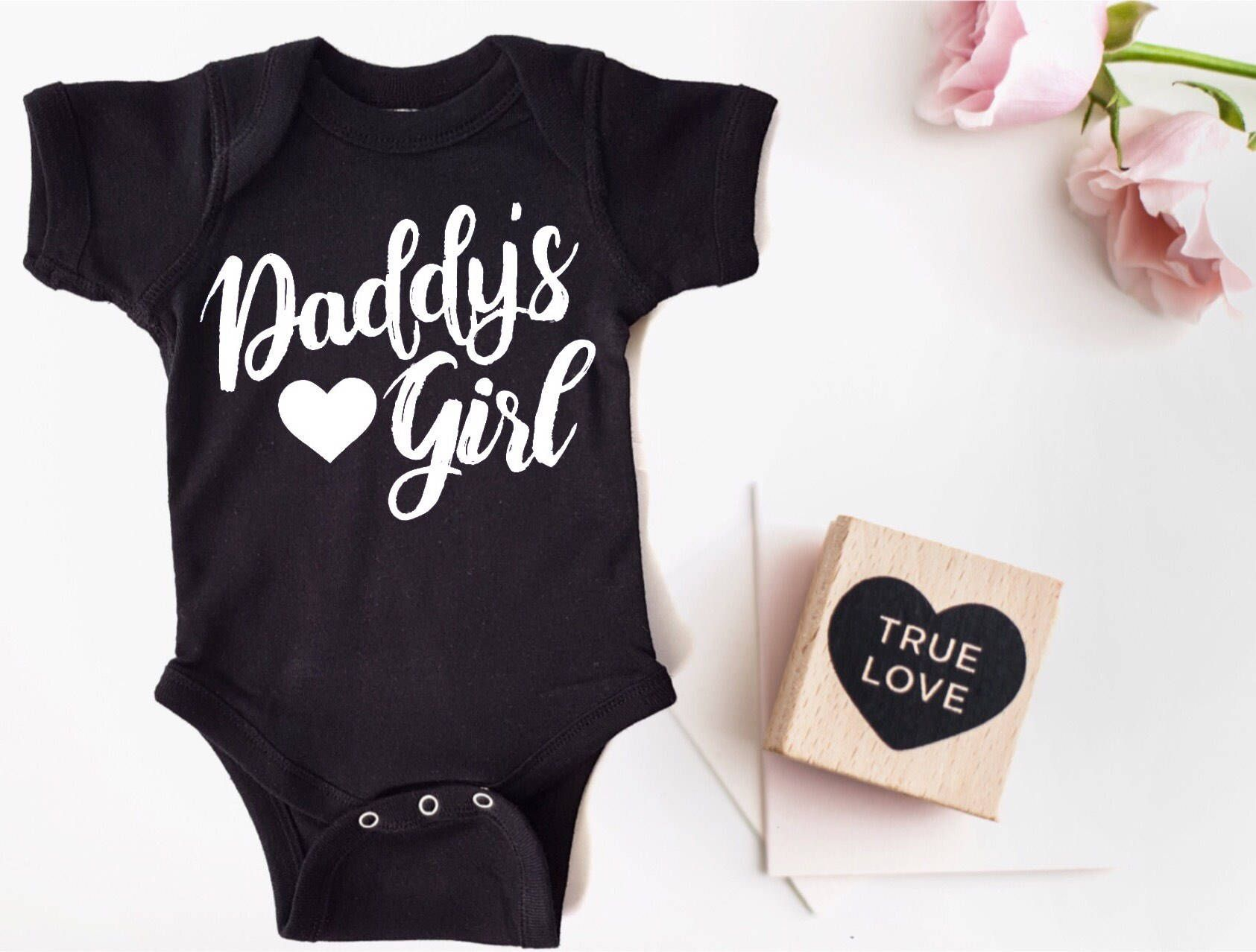 daddy girl bodysuit daddy girl shirt Baby Clothes