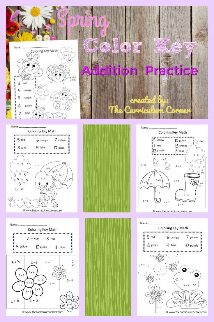 Spring Color Key Math | Spring colors, Curriculum and Maths