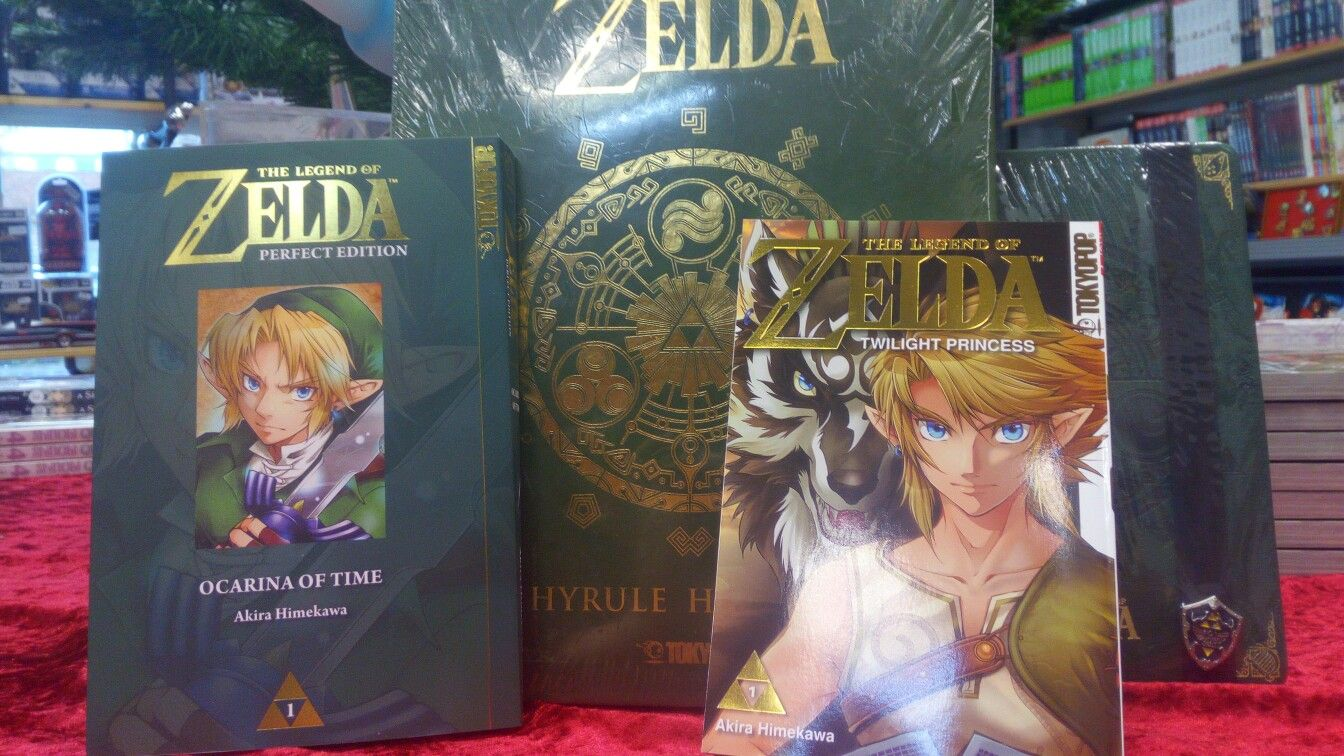 Zelda Twilight Princess, Ocarina of Time und Hyrule Historia vom Tokyopop Verlag