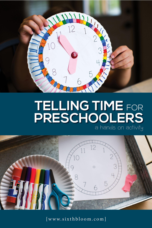 Telling Time for Preschoolers in 2018 | Sixth Bloom Preschool STEAM ...
