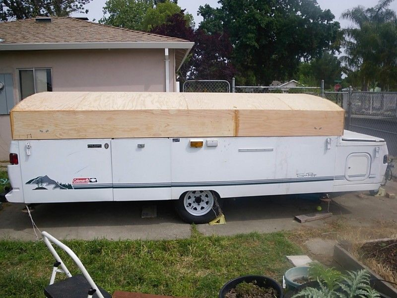 Watch Me Replace My Coleman Abs Roof Pop Up Camper Pop Up Trailer Remodeled Campers