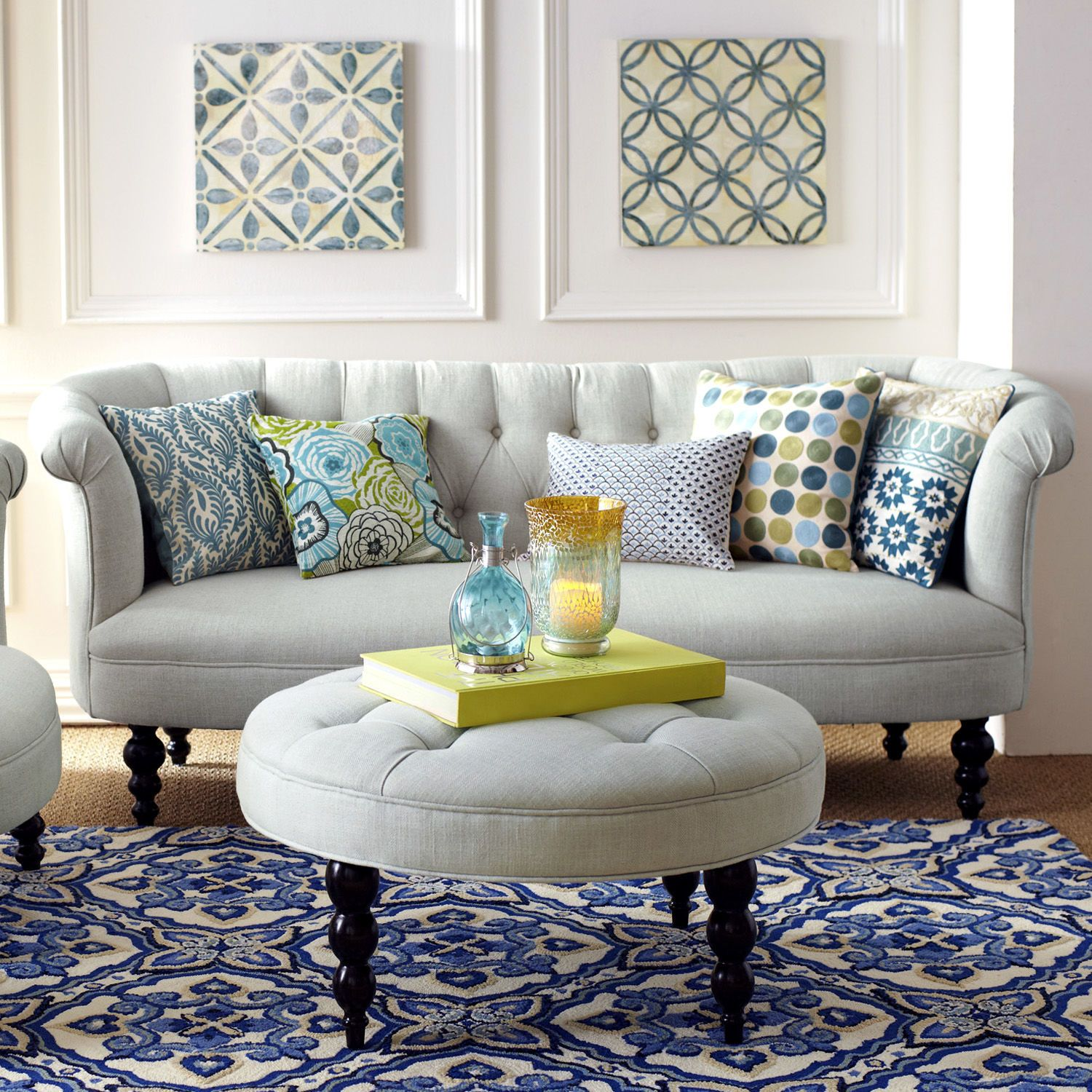 colette sofa mist family room pinterest living rooms and room